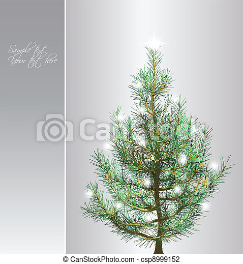 Christmas background with fir-tree. Vector - csp8999152
