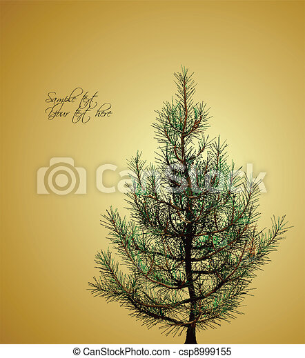 Christmas background with fir-tree. Vector - csp8999155