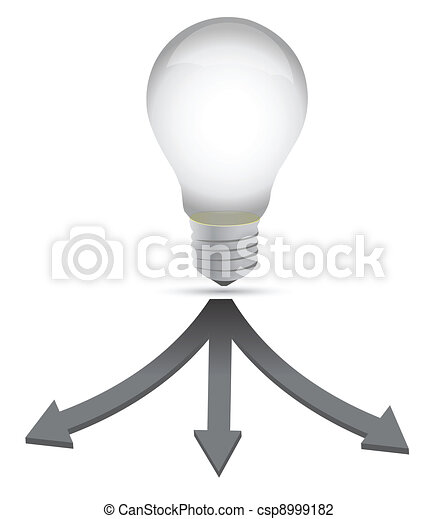 ideal destination lightbulb concept - csp8999182
