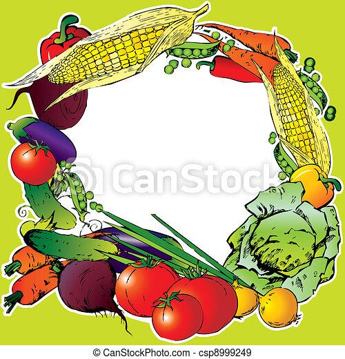Vegetables frame. - csp8999249