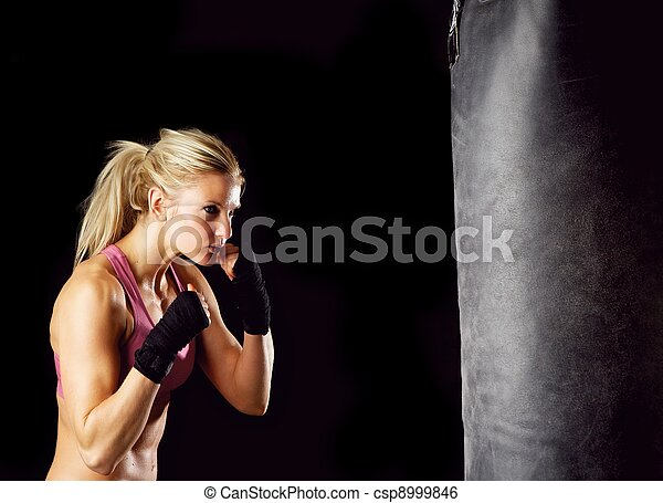 Boxing Girl - csp8999846