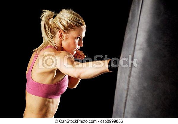 Punching Bag Punch - csp8999856