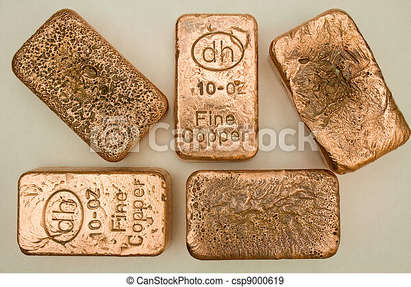 Pure Copper Bullion Bars - csp9000619