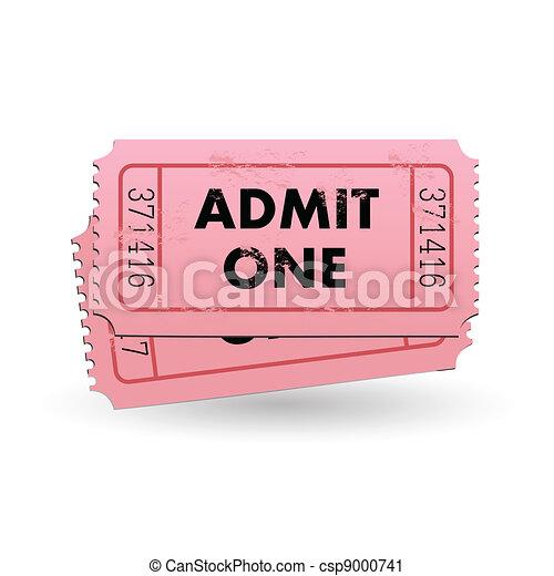 Admit One Ticket - csp9000741