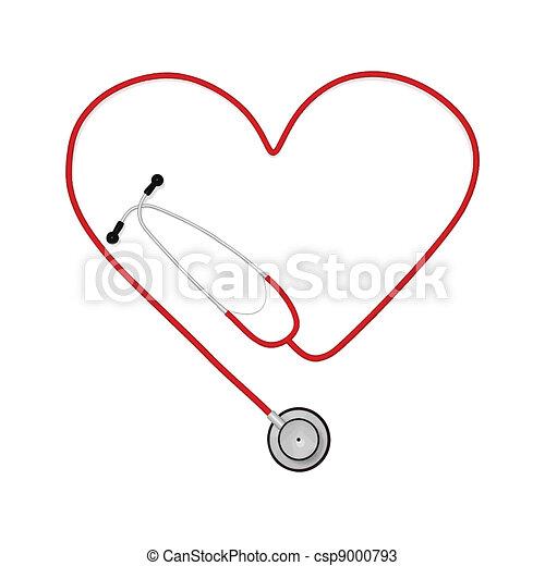 Heart Stethoscope - csp9000793