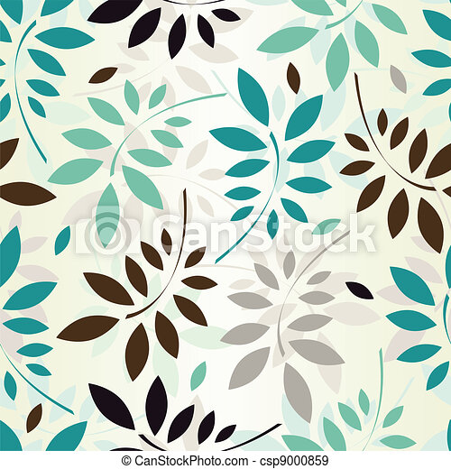 seamless leaves wallpaper - csp9000859