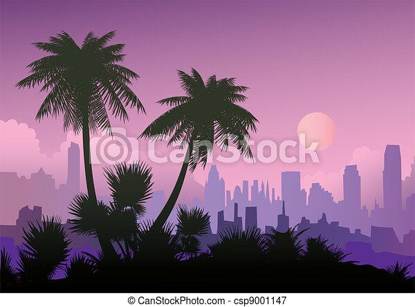 Evening landscape. - csp9001147