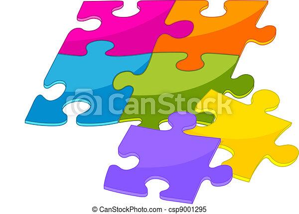 Colorful puzzle pieces - csp9001295