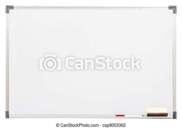 blank white board isolated on white - csp9003362