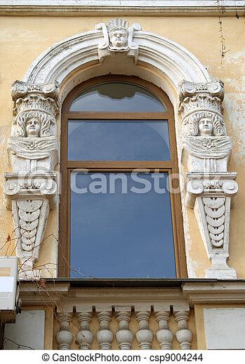 Stock foto von fenster barock modern fenster von for Fensterformen modern