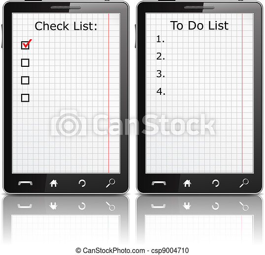 Mobile phone with check list and todo list - csp9004710