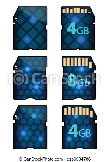 memory SD card design with front and back sides - csp9004786