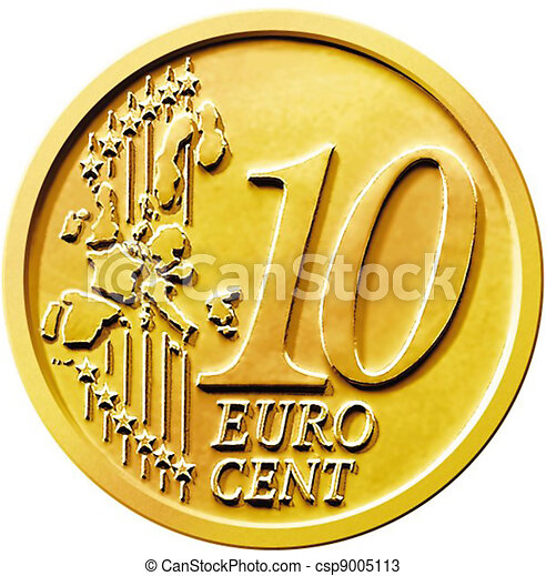 zeichnungen von muenze 10 zehn cent euro illustration von a zehn csp9005113. Black Bedroom Furniture Sets. Home Design Ideas