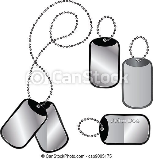 Different dog tags - csp9005175
