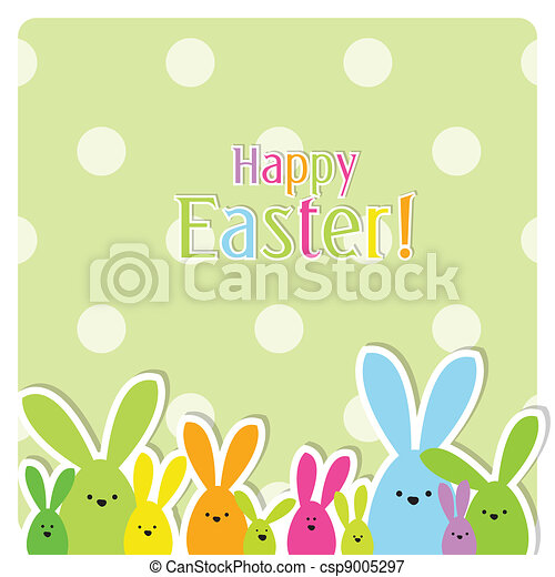 Easter card with copy space - csp9005297