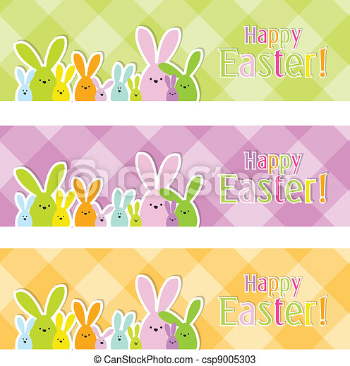 Easter web banners - csp9005303