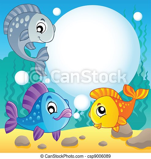 Fish theme image 2 - csp9006089