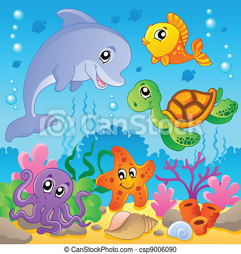 Image with undersea theme 2 - csp9006090