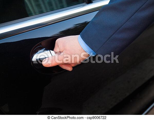 Hand opening limousine door - csp9006722