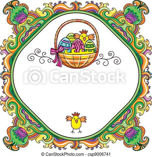 Easter Frame - csp9006741