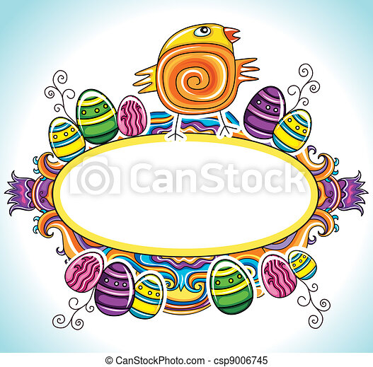 Holiday Easter Frame - csp9006745