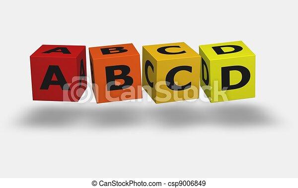 Letter cubes A B C D - csp9006849