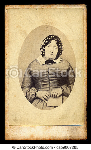 mourning victorian lady antique photo - csp9007285