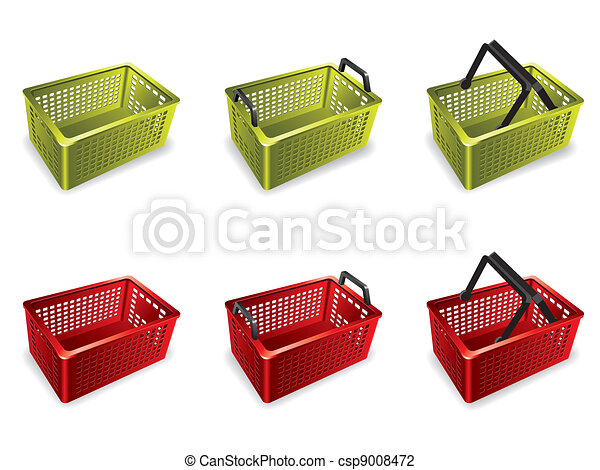 3D Plastic shopping basket - csp9008472