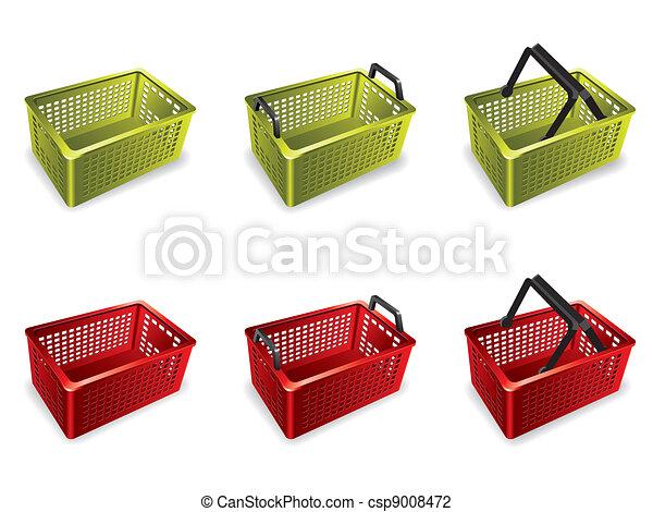 3D Plastic shopping basket - csp9008472