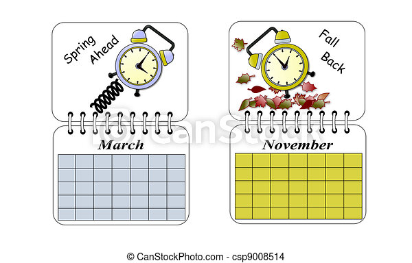 Drawing of Daylight Savings Time - An illustration of Daylight ...