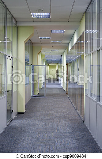 Long office corridor - csp9009484