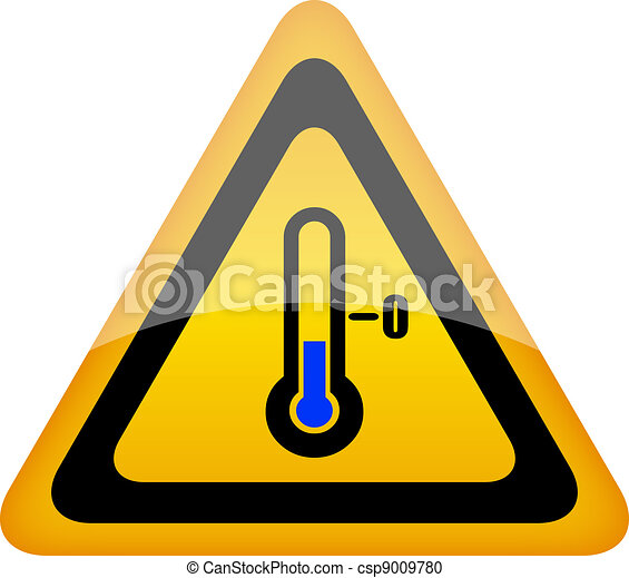 Low temperature warning sign - csp9009780
