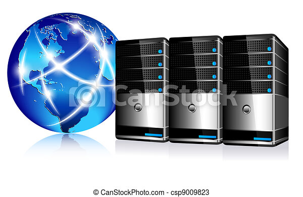 Servers and communication Internet  - csp9009823