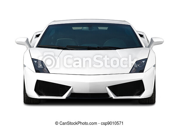 White supercar. Front view. - csp9010571