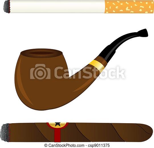 Cigarette, pipe and cigar - csp9011375