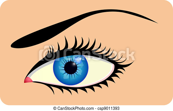 Close up of beautiful eye - csp9011393