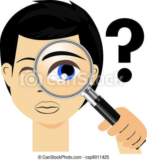 Detective with magnifying glass - csp9011425