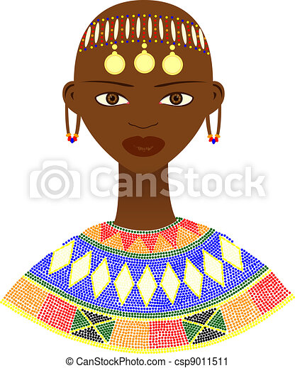 Native African woman - csp9011511