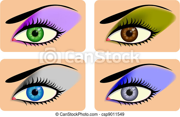 Attractive female eyes with vibrant - csp9011549