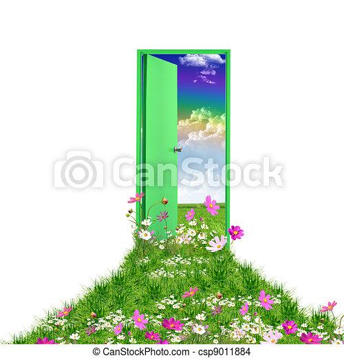 Door Opening Drawing Open Door Leading to Summer
