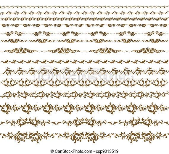 Horizontal elements decoration vector - csp9013519