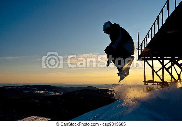Snowboard freeride in Siberia - csp9013605
