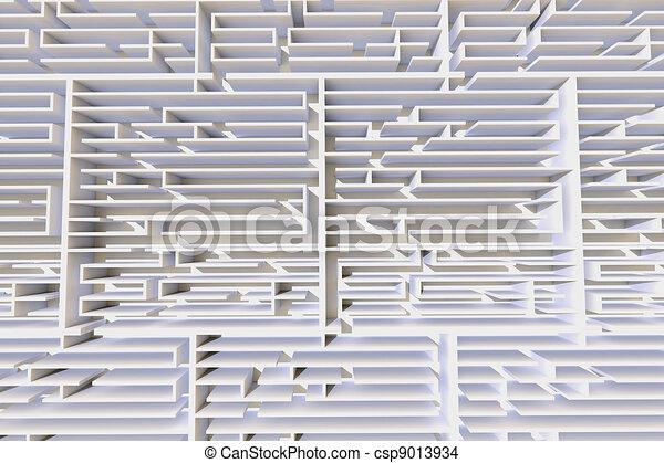3d Maze Drawing 3d Maze Csp9013934