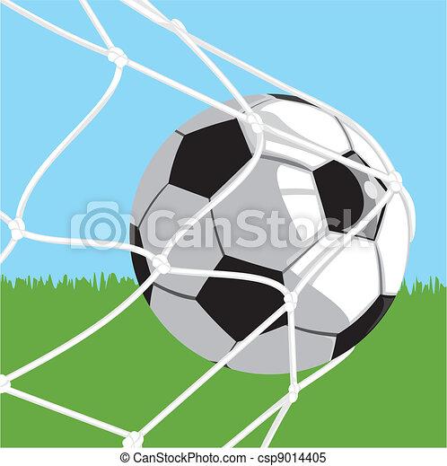 vecteur clipart de balle but football coup sur but quipe sport csp9014405. Black Bedroom Furniture Sets. Home Design Ideas