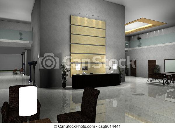 Clipart von inneneinrichtung modern design halle for Inneneinrichtung modern