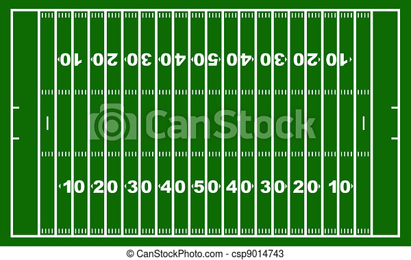 Drawings of American football field with green in background ...