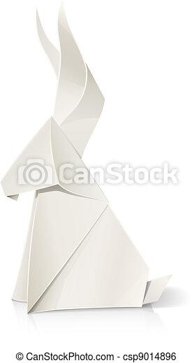 rabbit paper origami toy - csp9014896