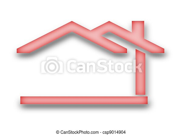 The house with a gable roof - csp9014904
