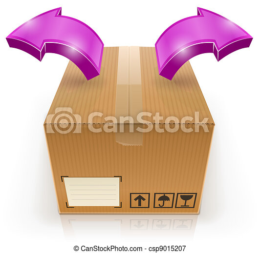 closed box with arrow outside - csp9015207