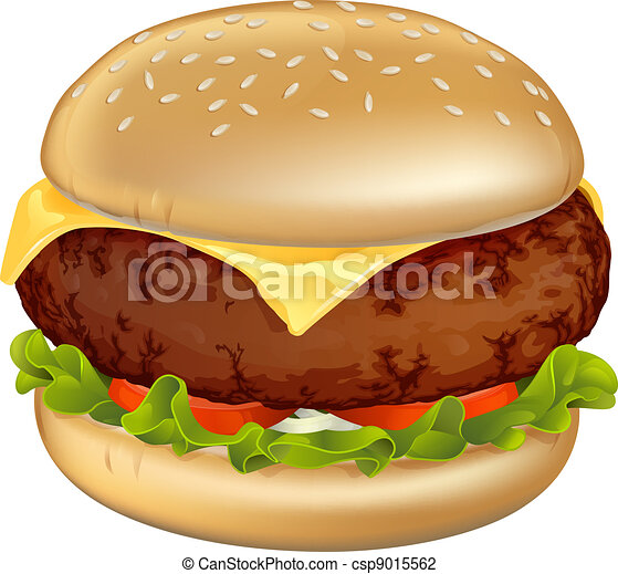 Burger illustration - csp9015562